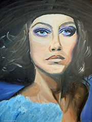 Portrait Of An Actress  Oil on Canvas 20x16