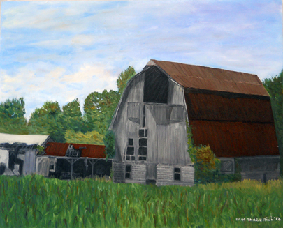 Remnants of a Barn  Oil on Canvas 16x20